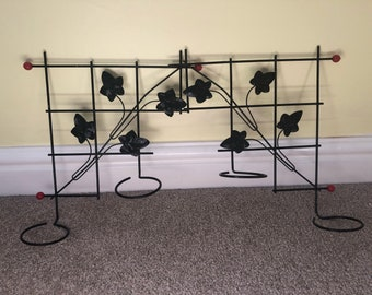 Two Vintage Metal Wall Hanging Planters