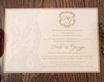 Lace Invitation, Lace Wedding Invitation, Lace Wedding Invite, Lace Invitations, Lace Wedding Invitations, Lace Wedding Invites, Cream Lace