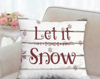 Let It Snow Christmas Pillow