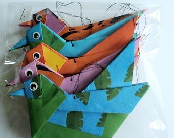 Paper Origami Bird Mobile. Paper Bird Mobile.