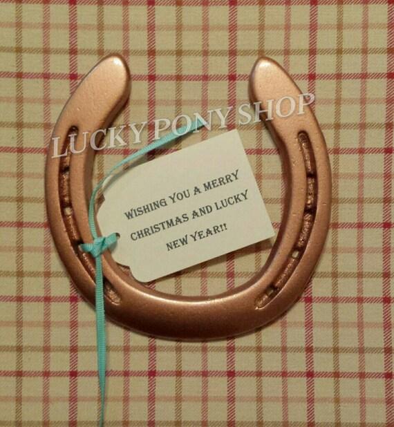 Horseshoe copper w custom gift tag horseshoe horse shoe like this item negle Images