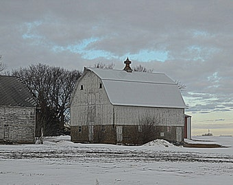 Barn in the Midwest Iowa