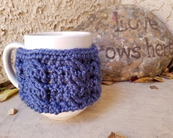 Mug cozy, cup cozy, Mother's day gift, mug warmer, mug cover, cup cover, crochet cup cozy,