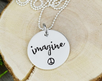 Imagine Necklace in Sterling Silver