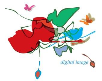 "Spring - Digital Illustration Print 11"" x 8.5"""