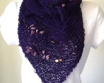 Dark purple shawl/scarf