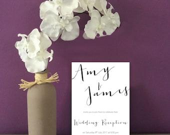 Digital Script Wedding Stationery