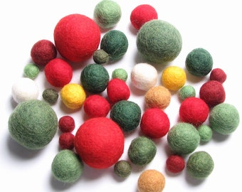 Medley Pack - 40PC Holiday Felt Balls