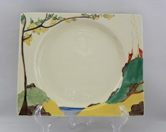 Early Bizarre  by *CLARICE CLIFF* c1934 - *SECRETS* 23cm x 19cm Plate - Very Good Condition