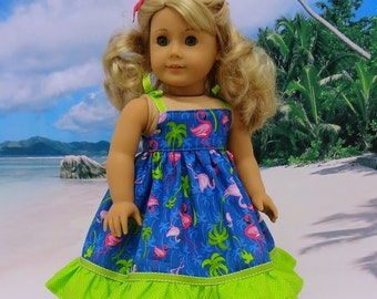 Flirty Flamingo - sundress for American Girl doll