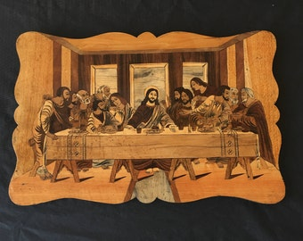 Beautiful Italian Marquetry - The Last Supper of Christ