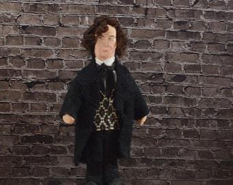 Jane Eyre Mr. Rochester Doll Miniature Charlotte Bronte Collectible Art