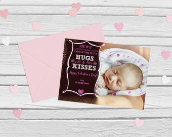 Late for holiday wishes Valentine's Day photoshop card template