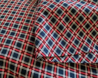 "Lumberjack Plaid Pillowcase Set - Standard Size - Cotton - 19.5 x 29.5"""