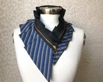Women's accessories, silk collar necklace, silk scarf necklace, silk collar, women's collar, bib necklace, burning man clothing #226