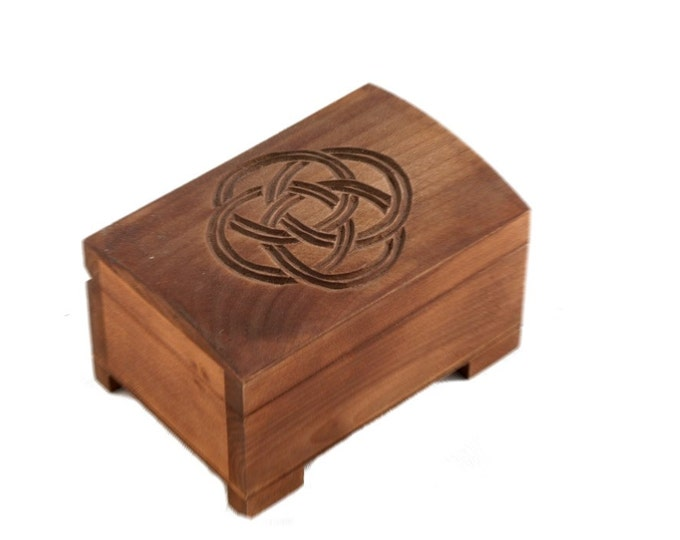 Wooden historical jewelry box Birka style