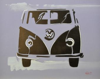 """Acrylic painting on wood """"ESTUDIO VI"""""""