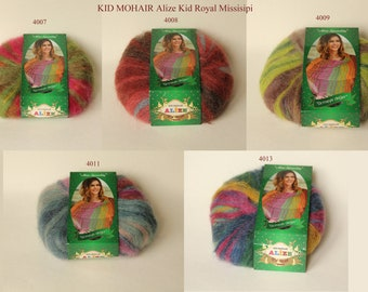 Alize Kid Royal Missisipi mohair yarn 50 g - 5 colors
