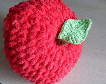 Big crochet apple
