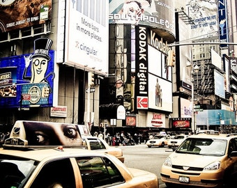 Times Square New York & Cabs Fine Art Print - Travel, Scenic, Landscape, Nature, Home Decor, Zen