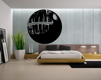 Death Star Wall Decal, Gamer Gifts for Him, Star Wars Wall Print, Wall Decal, Wall Art, Wall Decor, Star Wars Geek Gift