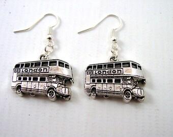 London Bus Earrings - London Earrings - Bus Driver Earrings - Routemaster Earrings