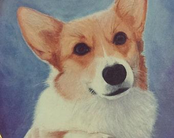 "Your Own 8"" X 10"" Custom Pet Portrait on Canvas"
