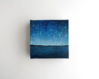 Night Sky Painting - 4 x 4