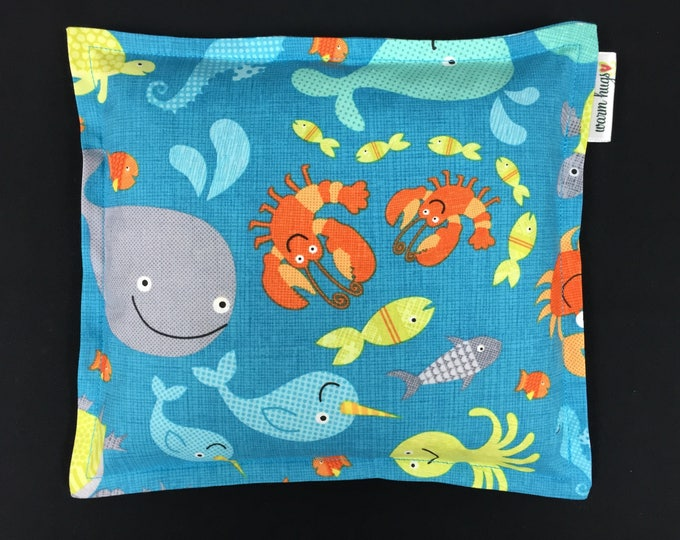 Corn Bags, Heat Pack, Corn Heating Pad, Microwave Corn Bags, Heated Bag, Ice Pack, Relaxation Gift, Gift for Children, Under The Sea