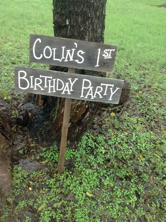 Personalized Birthday Sign Rustic Childs Name