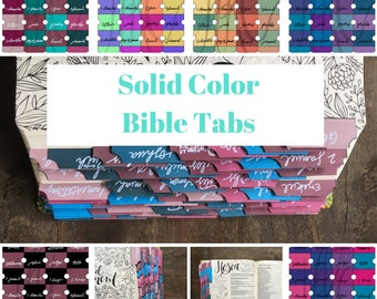 Bible Tabs, Solid Colors  | Sticker, Genesis-Revelation + extra