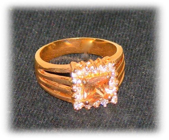 PINK ICE RING (sz 8)   (Ladies Ring)