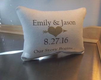Wedding pillow date pillows custom throw pillow 2nd anniversary gift cotton personalized pillow couples gift love cushion minimalist decor