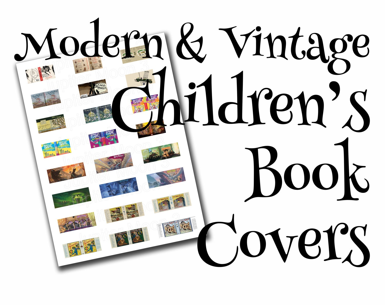 Modern Children S Book Covers : Children s dollhouse book covers modern vintage