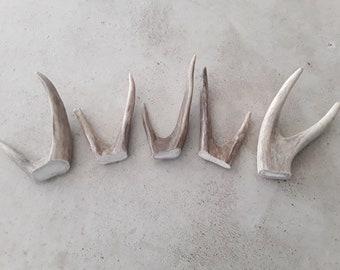 5 real deer antler forks crafts rustic decor gift design jewelery art display ornament lamp finial necklace