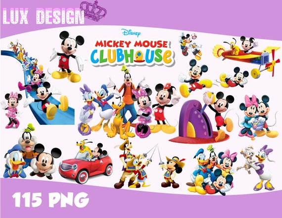 115 mickey mouse clubhouse clipart png images 300dpi digital rh etsy com mickey mouse clubhouse pete clipart mickey mouse clubhouse clipart png