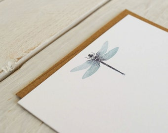 Dragonfly Notecards, Dragonfly Stationary, Dragonfly Gift, Dragonfly Cards, Notecards, Insect Note Card Set of 12