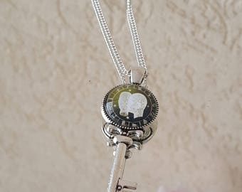 Zodiac sign pendant with silver-plated chain