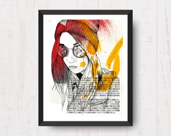 Abstract portrait print.