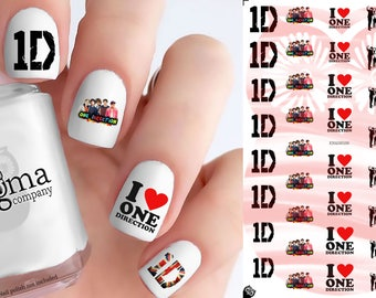 One Direction Nail Decals (Set of 41)