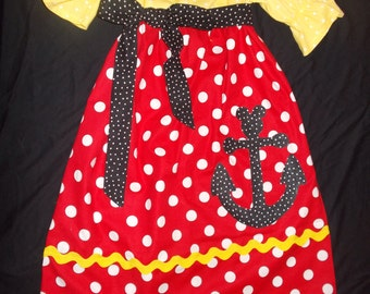 minnie mouse dress with applique minnie mouse
