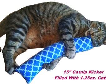 """15 in. Giant Catnip Kitty Kicker Toys  """"With No Catnip Pocket"""" / Kicker Filled with 1.25oz. Premium Canadian Catnip"""