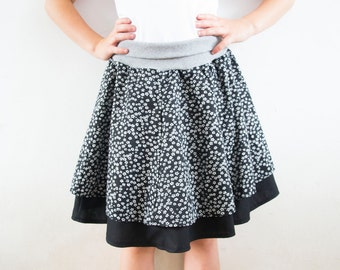 BUNDLE: Dyyni Skirt & Dyyni Ladies Skirt Pattern, sizes 2y - 16y + 2 - 20