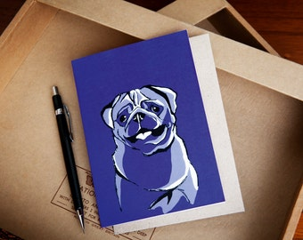 Pug Dog Greeting Card