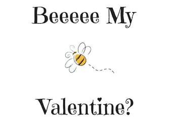 Instant Download!! Beee My Valentine Card