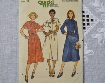 Butterick couture patron 6008 Misses robe taille 10 mode vêtements couture BRICOLAGE PanchosPorch