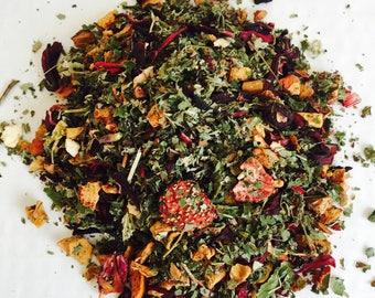 Organic Berry Love,relaxation tea, herbal tea, organic,tea,fruit tea, strawberrry tea, Xmas tea, winter tea, get well soon