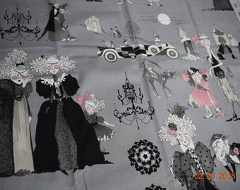 """Fabric, Ghastlie's Family Reunion by Alexander Henry, One 60"""" Piece"""