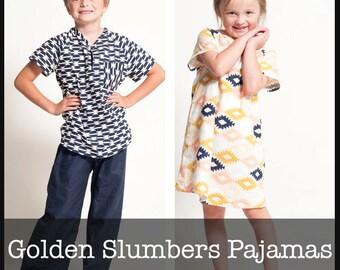 Golden Slumbers Pajamas PDF Sewing Pattern
