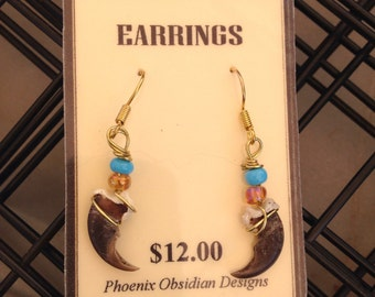 Raccoon Claw Earrings - custom